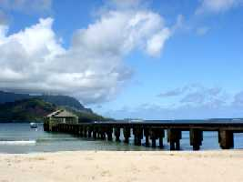 Hanalei Pier photo by Lilikoi 6-4-04