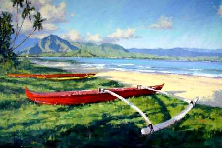 Hawaii Plein Air Art by Pierre Bouret